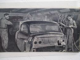 USA Automobile Américaine - Fabrication - Chaine De Peinture Au Pistolet    -  Coupure  De Presse De 1950 - Voitures