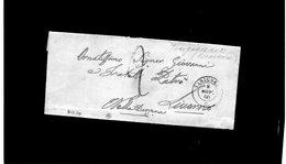 CG28 - Lett. Da Varignano X Livorno 2/11/1860 - Doppio Cerchio Sardo Nero + Segni Di Tassa - 1. ...-1850 Prefilatelia