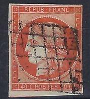 FRANCE Classique:  Le Y&T 5, Obl. Grille B ä TB Forte Cote - 1849-1850 Cérès
