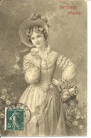 PAQUES - Jeune Femme Avec Panier D'oeufs - Par J. KRANZLE - Pasqua