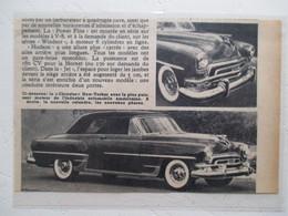 USA Automobile Américaine - Nouvelle Chrysler New Yorker Coupé 2 D    -  Coupure  De Presse De 1954 - Voitures