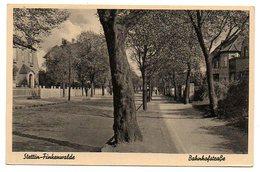 Allemagne / STETTIN - FINKENWALDE (Pologne : SZCZECIN) --  Rue De La Gare. - Deutschland