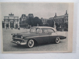 """Automobile Américaine - Nouvelle Chevrolet """"Bel Air"""" Exposée à Paris  -  Coupure  De Presse De 1957 - Voitures"""