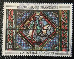 1427 France 1964 Oblitéré  Saint Paul Sur Le Chemin De Damas Vitrail De La Cathédrale De Sens - France