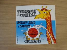 AUTOCOLLANT TOURNOI MONDIAL BASKET-BALL FEMININ ORLEANS - Stickers