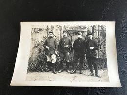 Carte Photo 4 Soldats 60e Regiment D'Infanterie - Guerre 1914-18