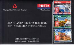 2020 Kenya Aga Khan University Hospital First Day Cover Health Medical - Kenya (1963-...)
