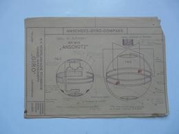 VIEUX PAPIERS - PLANCHE : ANSCHÜTZ - GYRO-COMPASS - Compas Gyroscopique - Sous-marin - Machines
