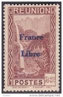 Réunion - N° 226 * Vue -> Bras Des Demoiselles - Emission Surchargée France Libre - Reunion Island (1852-1975)
