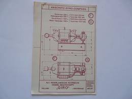 VIEUX PAPIERS - PLANCHE F-G : ANSCHÜTZ - GYRO-COMPASS - Compas Gyroscopique - Sous-marin - Machines