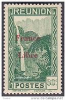 Réunion - N° 227 * Vue -> Bras Des Demoiselles - Emission Surchargée France Libre - Reunion Island (1852-1975)