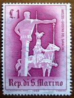 1963 SAN MARINO Giostre E Tornei  Arezzo Giostra Del Saracino - Lire 1 Nuovo - Nuovi