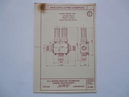 VIEUX PAPIERS - PLANCHE 0 : ANSCHÜTZ - GYRO-COMPASS - Compas Gyroscopique - Sous-marin - Machines