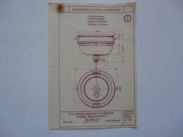 VIEUX PAPIERS - PLANCHE S : ANSCHÜTZ - GYRO-COMPASS - Compas Gyroscopique - Sous-marin - Machines