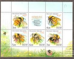 Russia: Mint Block, Insects - Bees, 2005, Mi#Bl81, MNH - Blocs & Feuillets