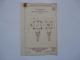 VIEUX PAPIERS - PLANCHE R1 : ANSCHÜTZ - GYRO-COMPASS - Compas Gyroscopique - Sous-marin - Máquinas