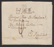 Précurseur - LAC Datée De Liège (1812) + Obl Linéaire 96 / LIEGE ( Type 5) > Commerçante à Rochefort / Taxe De 6 Décimes - 1794-1814 (Période Française)