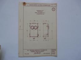 VIEUX PAPIERS - PLANCHE M : ANSCHÜTZ - GYRO-COMPASS - Compas Gyroscopique - Sous-marin - Máquinas