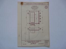 VIEUX PAPIERS - PLANCHE N : ANSCHÜTZ - GYRO-COMPASS - Compas Gyroscopique - Sous-marin - Maschinen