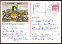 82998) BRD - P 138 - Q3/33 - Ortsgleich OO Gestempelt - 7889 Grenzach-Wyhlen, Blick Auf Ort, Wappen - Cartoline Illustrate - Usati
