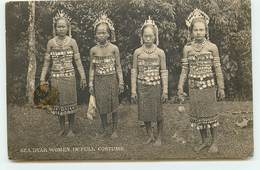 Malaisie - Sea Dyak Women In Full Costume - Sarawak - Malaysia