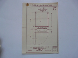 VIEUX PAPIERS - PLANCHE J : ANSCHÜTZ - GYRO-COMPASS - Compas Gyroscopique - Sous-marin - Maschinen