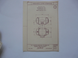 VIEUX PAPIERS - PLANCHE H : ANSCHÜTZ - GYRO-COMPASS - Compas Gyroscopique - Sous-marin - Maschinen