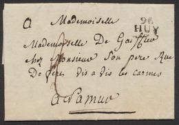 Précurseur - LAC Datée De Huy (1808) + Obl Linéaire 86 / HUY (Type 5) > Namur / Port De 2 Décimes. - 1794-1814 (Période Française)