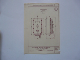 VIEUX PAPIERS - PLANCHE E : ANSCHÜTZ - GYRO-COMPASS - Compas Gyroscopique - Sous-marin - Macchine