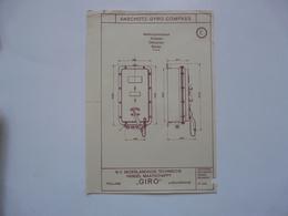 VIEUX PAPIERS - PLANCHE E : ANSCHÜTZ - GYRO-COMPASS - Compas Gyroscopique - Sous-marin - Maschinen