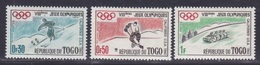 TOGO 1960 - JUEGOS OLIMPICOS SQUAW VALLEY - YVERT Nº 300/302** - Invierno 1960: Squaw Valley