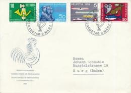 343-346 Illustrierter Ersttagsbrief Mit ET Sonderstempel BERN 9. März 59 - Cartas