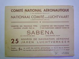 2020 - 4809  SABENA  :  Carnet De 3 Séries De VIGNETTES Vendues Au Profit De La Jeunesse   XXX - Aviation Commerciale