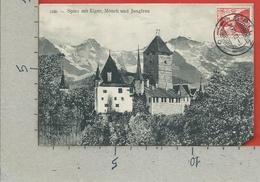 CARTOLINA VG SVIZZERA - Spiez Mit Eiger Monch Und Jungfrau - 9 X 14 - 1913 - BE Berne