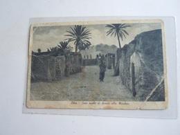 CPA - LIBYE LIBYA / LIBIA -CASE AREBE DI FRONTE LA MOSCHEA  1940 PM 262 - Libia