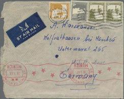 1928-47, 5 Verschiedene Bedarfsbriefe Und 1 Postkarte Aus Palästina In Die Schweiz Bzw. Nach Deutschland Gelaufen, Dabei - Palestine