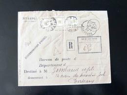 1927 -  LETTRE TAXE RECOUVREMENT  30 CENTIMES - Lettere Tassate