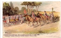 Mülhauser Soldaten 1780 - Sapeure Artillerie - Mulhouse Dornach - Becker - Elsass Alsace - Régiments