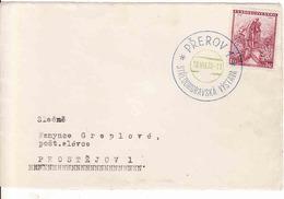 Czechoslovakia 1936, Letter Prerov Stredomoravská Výstava - Prostejov - Czechoslovakia