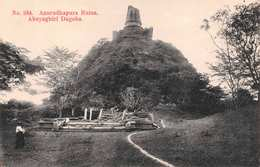 CEYLON (SRI LANKA) - ANURADHAPURA RUINS, ABHAYAGIRI DAGOBA - DATED 1916 ~ AN OLD POSTCARD #22443 - Sri Lanka (Ceylon)