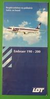 LOT Polish Airlines - Embraer EMB190 | SAFETY CARD | Avion / Airplane / Flugzeug - Safety Cards