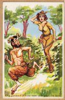 ILL497 Louis CARRIERE Oh! Pardon Vous Avais Pris Pour Une Biche Humour Coquin Chasseur 1950s Photochrom Série 754 - Carrière, Louis