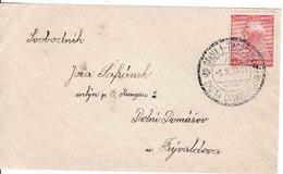 Czechoslovakia 1937, Letter Opava Skuter Československa - Dolní Domášov U Fryvaldova - Czechoslovakia