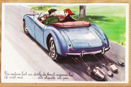 ILL395 Louis CARRIERE Humour Automobile Coupé Sport Voiture Drole Bruit Elle Cliquete 1950s Photochrom 713 - Carrière, Louis