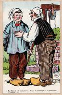 ILL430 A SAISIR Illustrateur GRIFF Série PAYSANS 71 Fille Trop Jeune Printemps Point Travailli Cpagr 1915s BROCHERIOUX - Griff