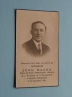 DP Jean BACKX ( Marie-Louise VERVACK ) Turnhout 11 Feb 1897 - Schaerbeek 22 Dec 1944 ( Zie Foto's ) ! - Todesanzeige
