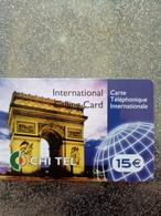 FRANCE PREPAID CHI TEL ARC DE TRIOMPHE PARIS 15€ UT - Cultura