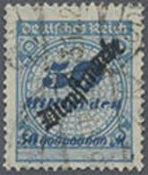 1923, 50 Mrd. Schlangenförmiger Aufdruck, Gestempelt,tiefstsign. Peschl, Mi. 260.- - Duitsland