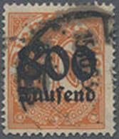 "1923, 800 Tsd. A.30 Pf. Ziffer Wz.2 Dabei PF 0 In 30 Nicht Schraffiert"",stark Gestempelt, Tiefsign. Infla, Mi. 200.-"" - Duitsland"