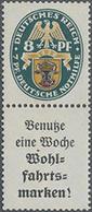 1928, Nothilfe Wappen, 8+A2, Postfrischer Senkr. Zusammendruck, Mi. 400.- - Duitsland